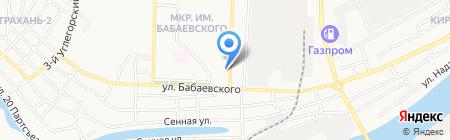 Золотая рыбка на карте Астрахани