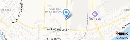 Локон на карте Астрахани