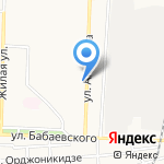 Киоск по продаже фруктов и овощей на карте Астрахани