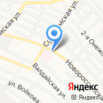 Марина на карте Астрахани