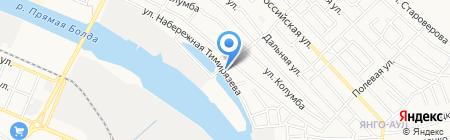 Лебеди на карте Астрахани