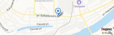 Шиномонтажная мастерская на ул. Бабаевского на карте Астрахани
