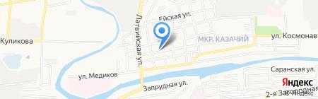 Детская школа искусств №22 на карте Астрахани