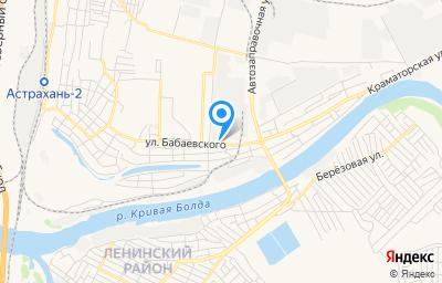 Местоположение на карте пункта техосмотра по адресу г Астрахань, ул Бабаевского, д 45