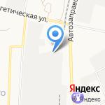 Началовский строительный двор на карте Астрахани