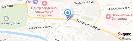 Сантех-Сити на карте Астрахани