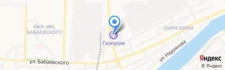 АЗС Газпром на карте Астрахани