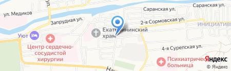СОАДОР на карте Астрахани