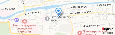 КРАСТ на карте Астрахани