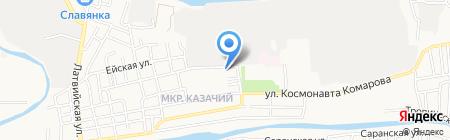 Сеть продовольственных магазинов на карте Астрахани