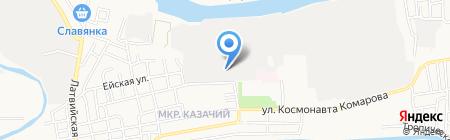 Элмор на карте Астрахани