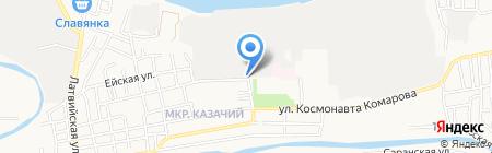 Казачий на карте Астрахани