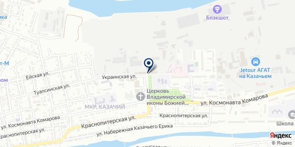 Неревар на карте Астрахани