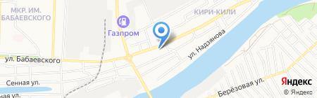 Золотой цветок на карте Астрахани