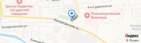 Юг-Авто на карте Астрахани