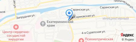 Нахалёнок на карте Астрахани