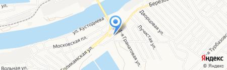 Кармен на карте Астрахани