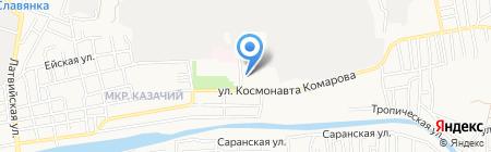 Детский сад №12 Журавушка на карте Астрахани
