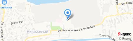 Семерочка на карте Астрахани