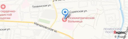 Областная клиническая психиатрическая больница на карте Астрахани