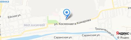 Детский сад №4 на карте Астрахани