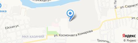 Профессор Белов на карте Астрахани
