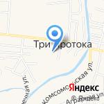 Трехпротокская средняя общеобразовательная школа с дошкольным отделением на карте Астрахани