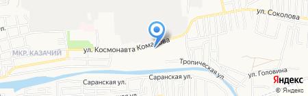 Маргарита на карте Астрахани