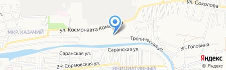 Детский сад №115 на карте Астрахани