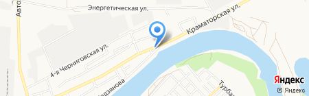 На берегу на карте Астрахани