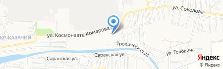 Казачка на карте Астрахани
