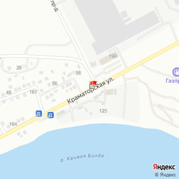 г. Астрахань, ул. Краматорская, на карта