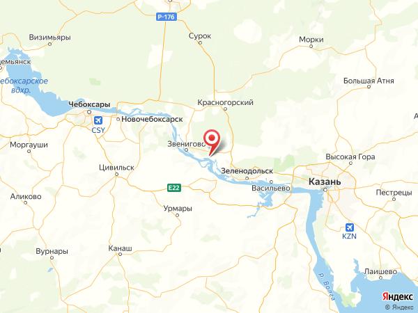 деревня Мари-Луговая на карте
