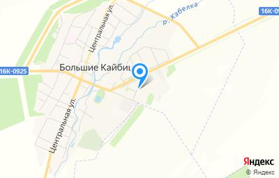 Местоположение на карте пункта техосмотра по адресу Респ Татарстан, с Большие Кайбицы, ул Спортивная, д 5