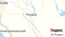 Отели города Раздор на карте