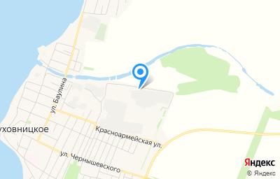 Местоположение на карте пункта техосмотра по адресу Саратовская обл, рп Духовницкое, ул Красноармейская