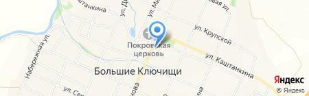 Поволжский банк Сбербанка России на карте Больших Ключищ