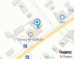 Схема местоположения почтового отделения 429430