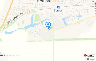 Местоположение на карте пункта техосмотра по адресу Саратовская обл, г Ершов, проезд Суворова, д 8