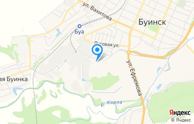 Местоположение на карте пункта техосмотра по адресу Респ Татарстан, г Буинск, ул Зеленая, д 48, пом 1000Н