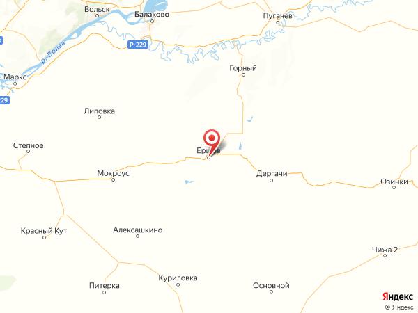 Ершов на карте