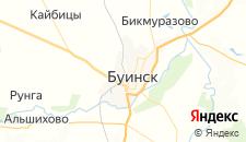 Гостиницы города Буинск на карте