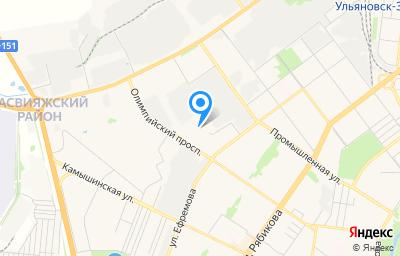 Местоположение на карте пункта техосмотра по адресу г Ульяновск, ул Ефремова, д 52В