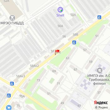 г. Ульяновск, ул. Ефремова, на карта