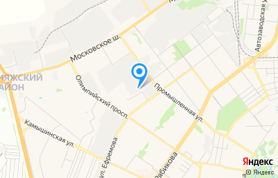 Местоположение на карте пункта техосмотра по адресу г Ульяновск, ул Ефремова, д 50