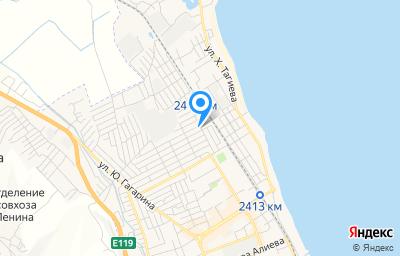 Местоположение на карте пункта техосмотра по адресу Респ Дагестан, г Дербент, ул Х.Тагиева, д 2Г