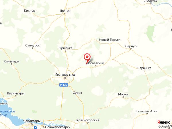 деревня Красная Поляна на карте