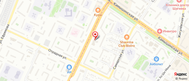 Карта расположения пункта доставки Ульяновск Рябикова в городе Ульяновск