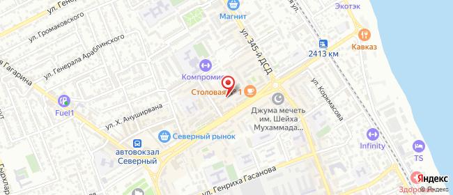 Карта расположения пункта доставки Билайн в городе Дербент