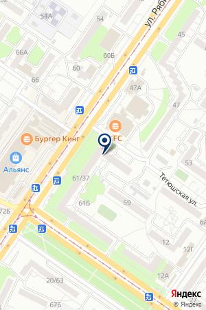 Продуктовый магазин наКамышинской 37 на карте Ульяновска